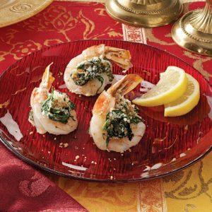 Butterflied Shrimp Rockefeller