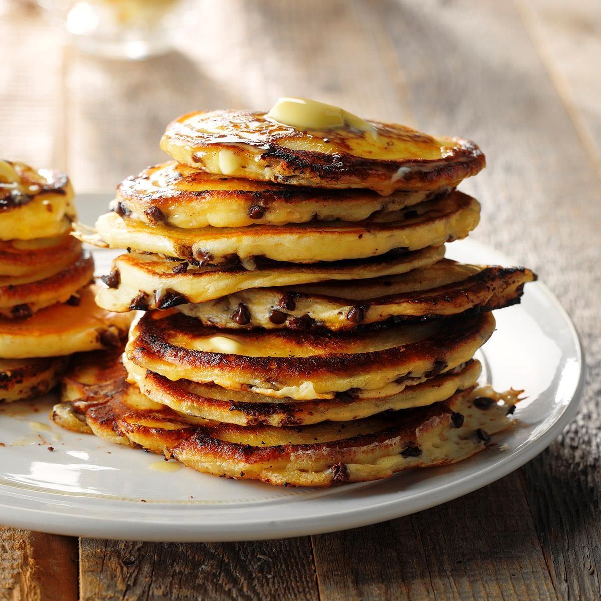 Buttermilk Chocolate Chip Pancakes Recipe