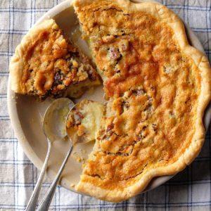 Buttermilk Pie with Pecans