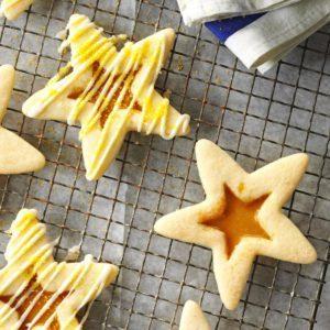 Butterscotch Eggnog Stars