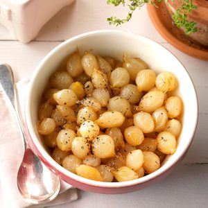 Buttery Whiskey-Glazed Pearl Onions