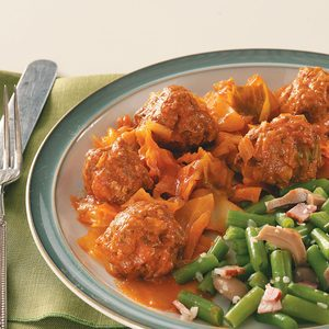 Cabbage & Meatballs
