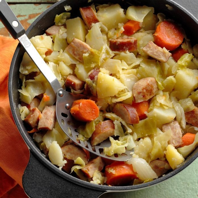 Cabbage Sausage Supper