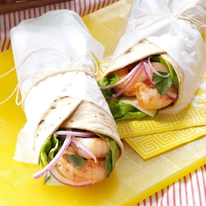 Cajun Shrimp & Cucumber Wraps