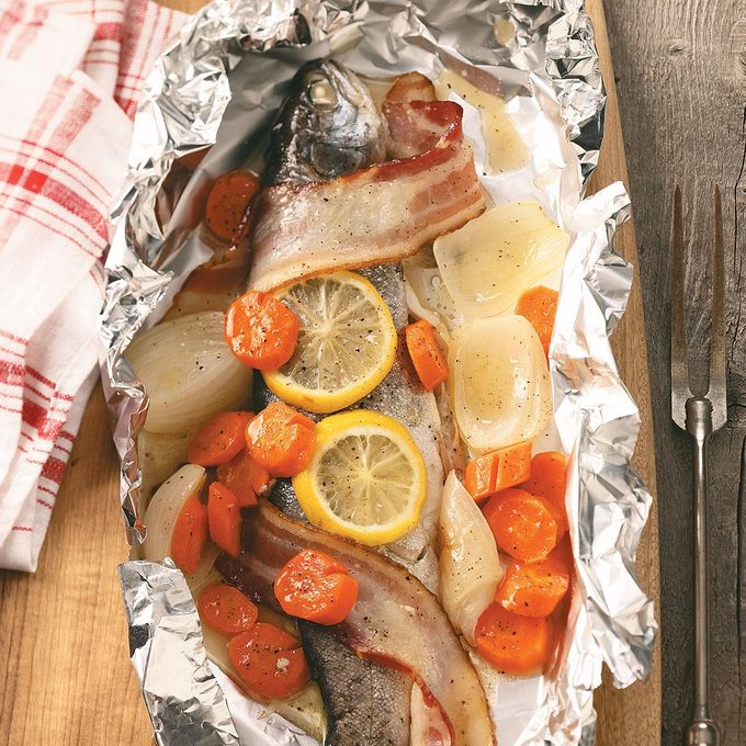 Campfire Trout Dinner