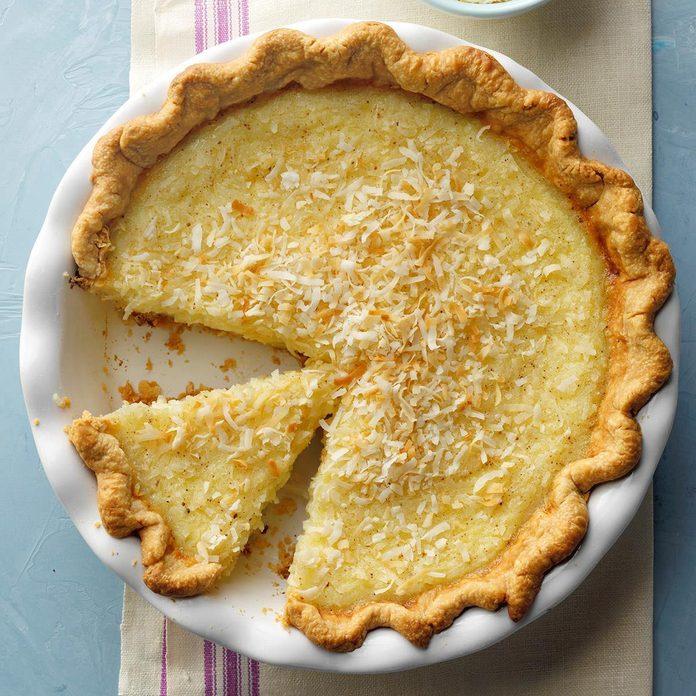 Rhode Island: Coconut Custard Pie