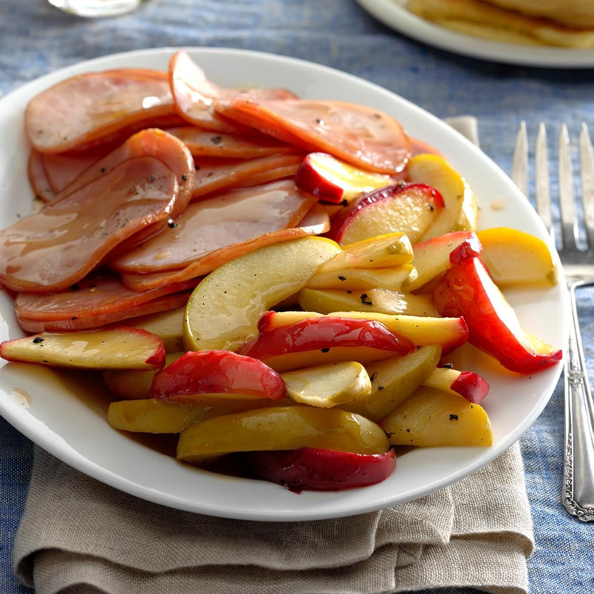 Canadian Bacon with Apples