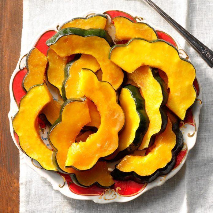 Candied Acorn Squash Slices
