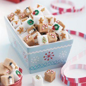 Candy Cane Sugar Cubes