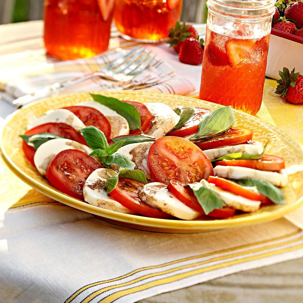The Mozzarella Tomato Basil Caprese Salad You'll Want to Serve All the Time