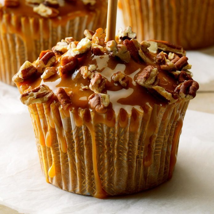October Birthday: Caramel Apple Cupcakes