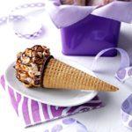 Caramel Nut-Chocolate Popcorn Cones