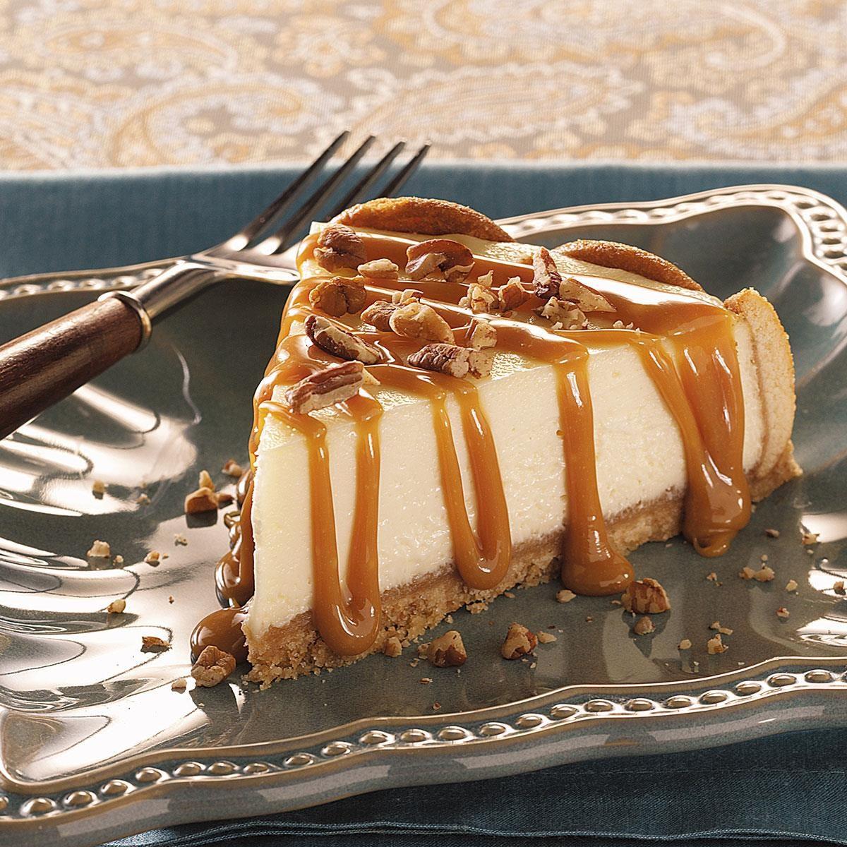 Caramel Praline-Topped Cheesecake Recipe