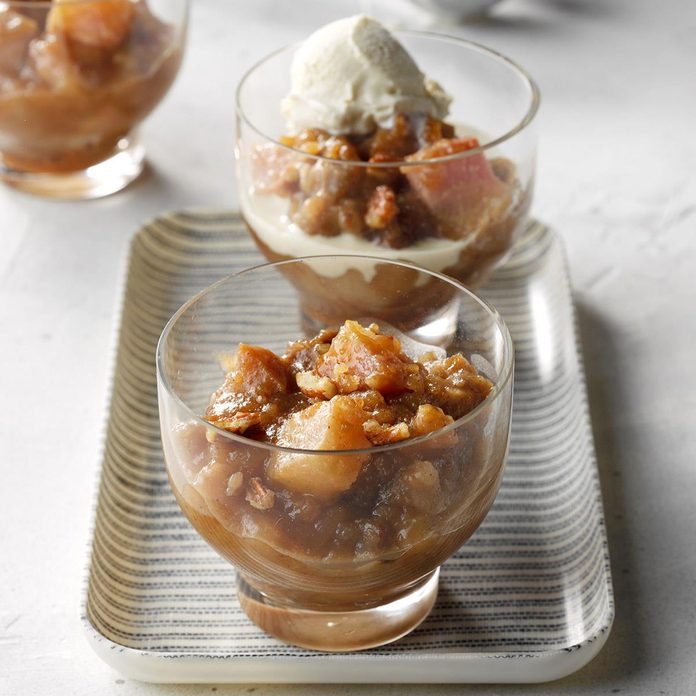 Caramel and Pear Pudding