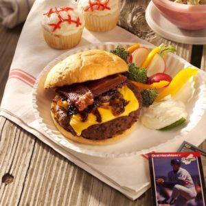 Caramelized Onion-Bacon Burgers