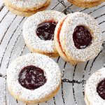Cardamom-Blackberry Linzer Cookies