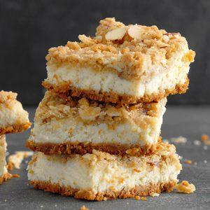 Cardamom Cheesecake Bars