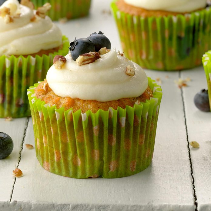 Carrot Blueberry Cupcakes
