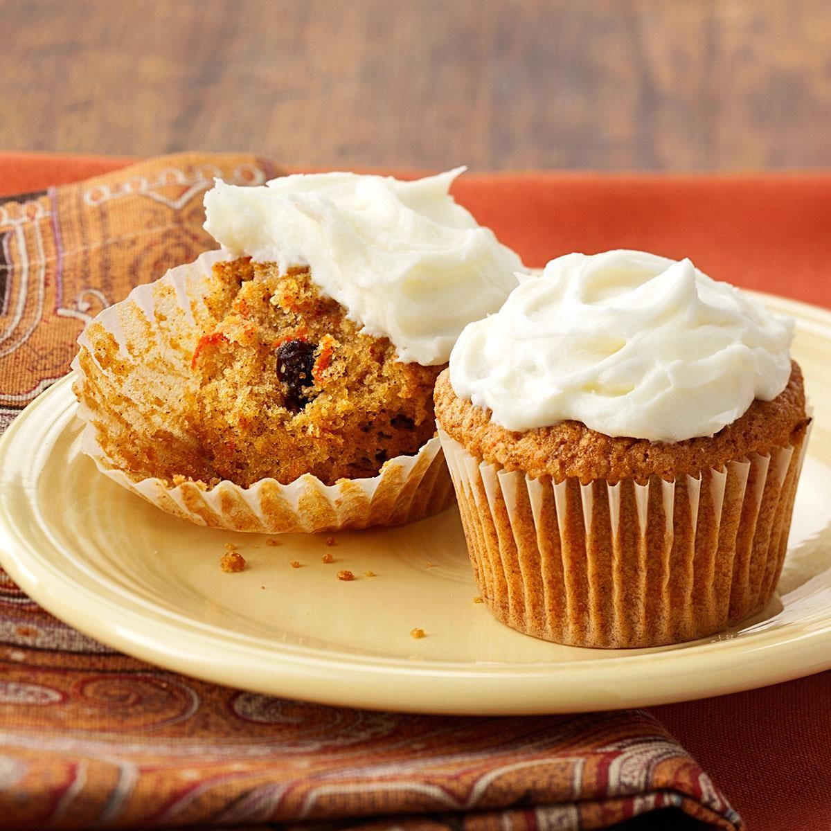 Carrot Cake Cupcakes Recipe Taste Of Home