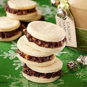 Cashew Sandwich Cookies