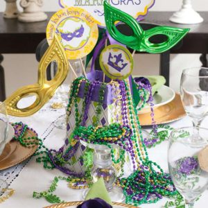 10 Fun Centerpiece Ideas For Your Mardi Gras Party Taste Of Home