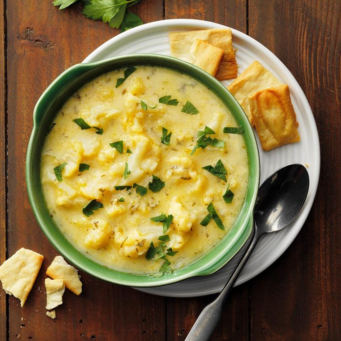 Cauliflower Cheddar Soup