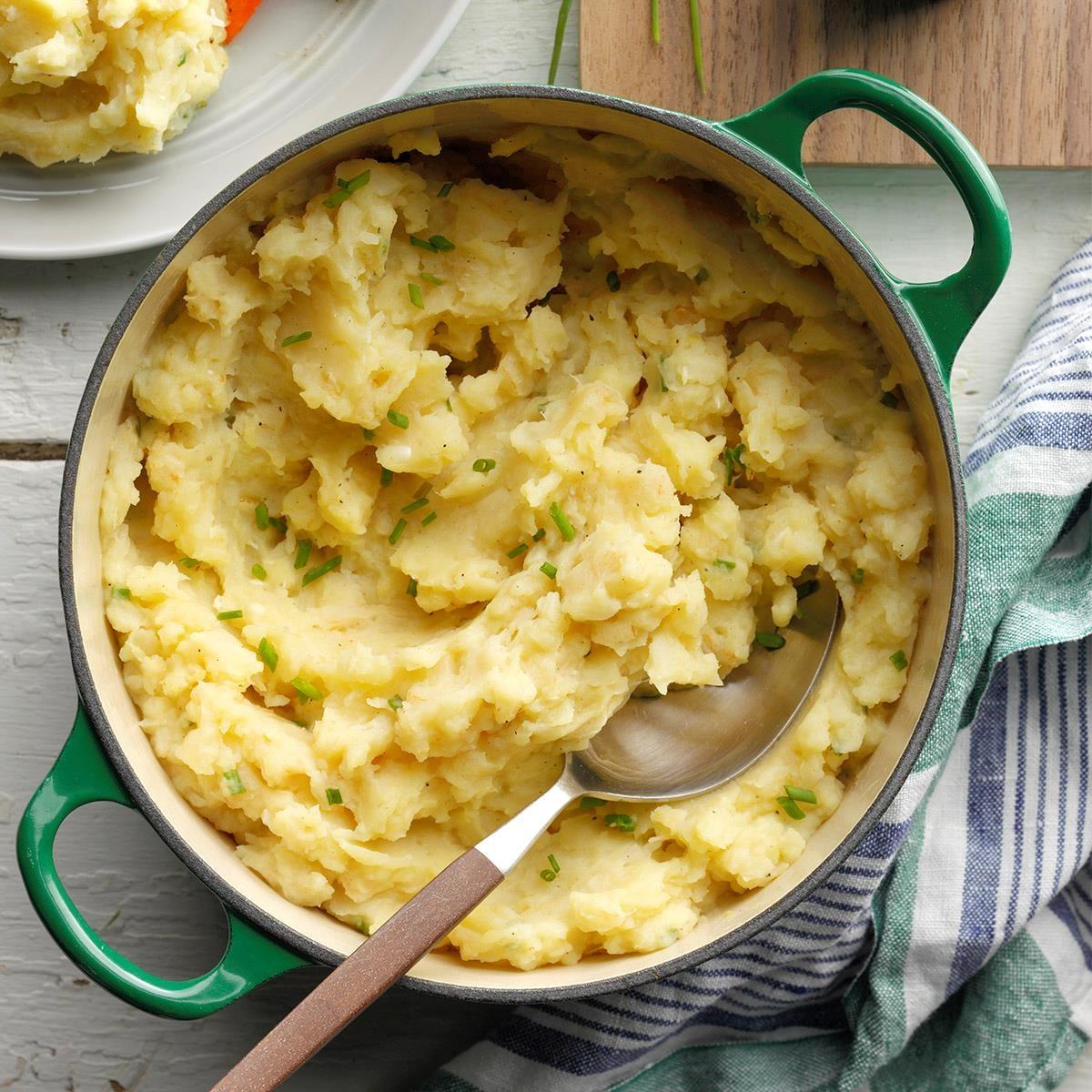Celeriac & Garlic Mashed Potatoes