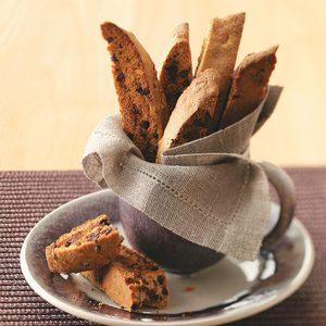 Chai-Chocolate Chip Biscotti
