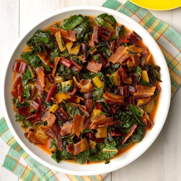 Chard with Bacon-Citrus Sauce