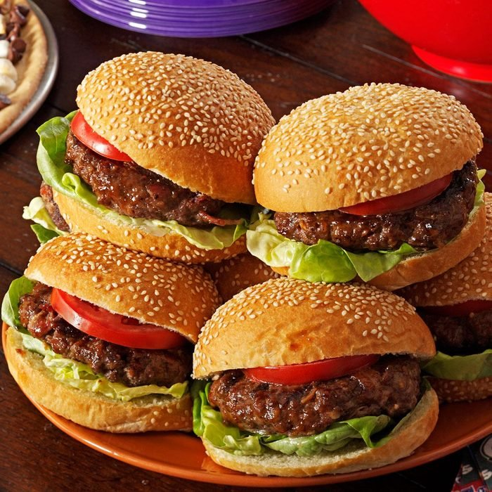 Cheddar and Bacon Burgers
