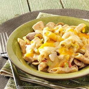 Cheddar Chicken Mostaccioli