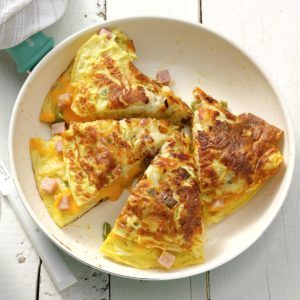 Cheddar Hash Brown Omelet