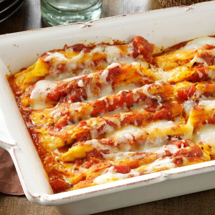 Cheese & Pumpkin-Filled Manicotti