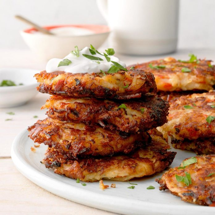 Cheese & Red Pepper Latkes
