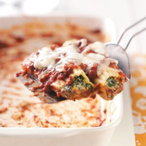Cheese Spinach Manicotti