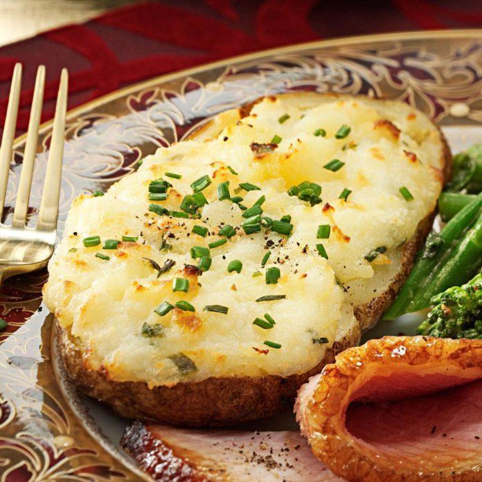 Cheese-Stuffed Twice-Baked Potatoes