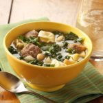 Cheese Tortellini and Kale Soup