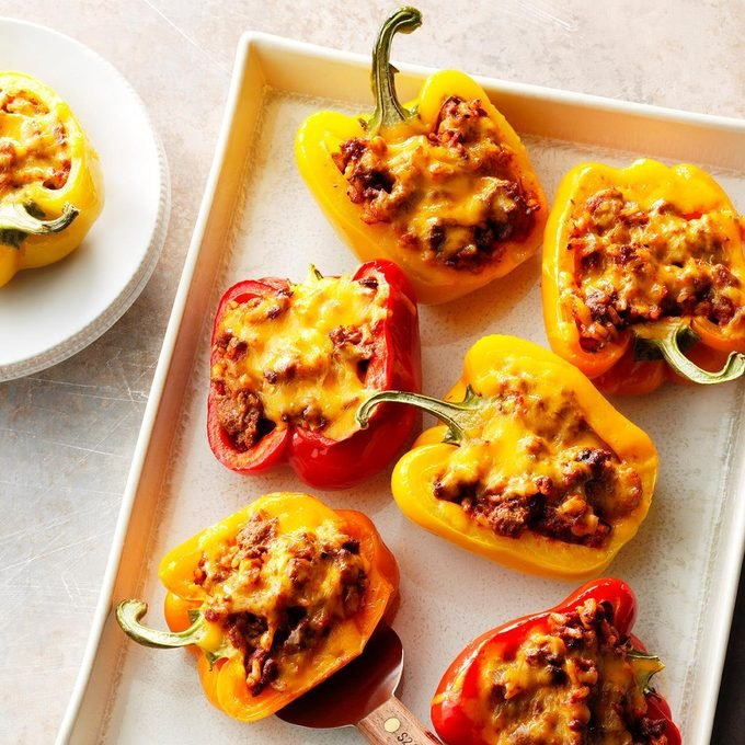 Cheeseburger Pepper Cups