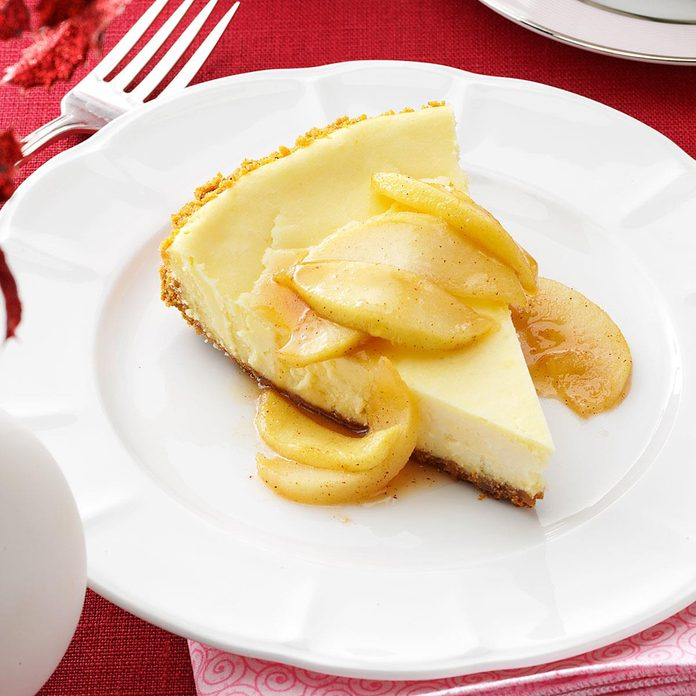 Cheesecake with Caramel Apple Topping