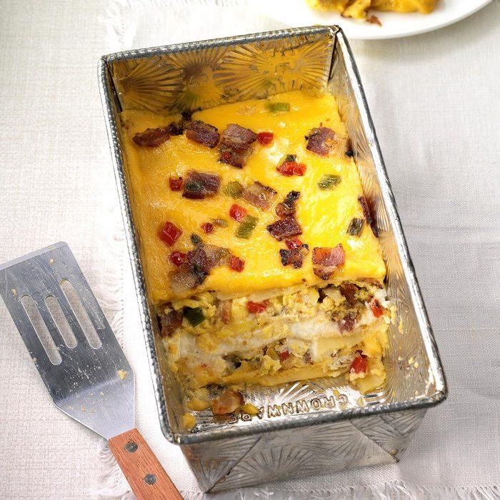 Cheesy Bacon Breakfast Lasagna
