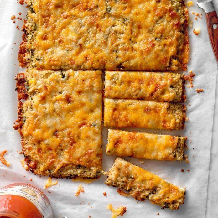 Cheesy Cauliflower Breadsticks