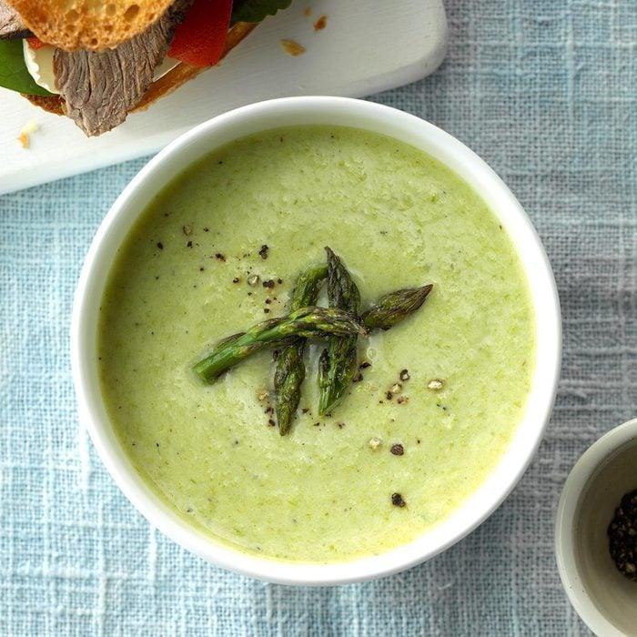 Cheesy Cream of Asparagus Soup