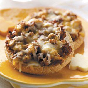 Cheesy Pizza English Muffins