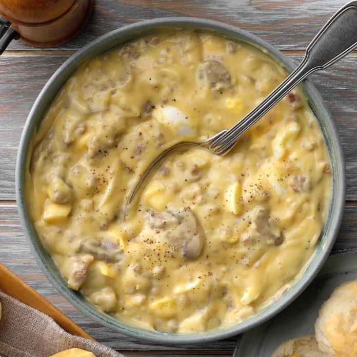 Cheesy Sausage Gravy