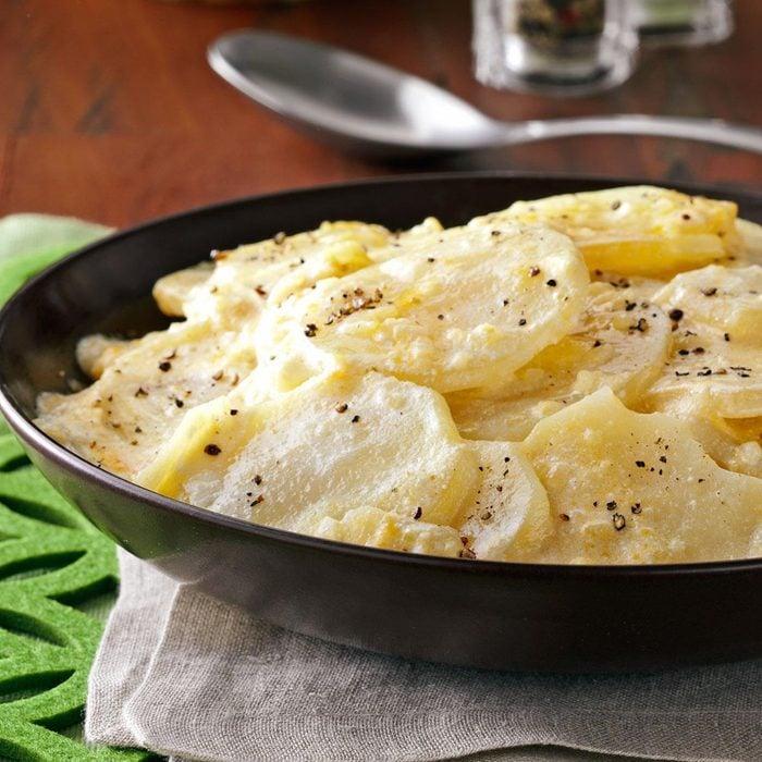 Cheesy Sliced Potatoes