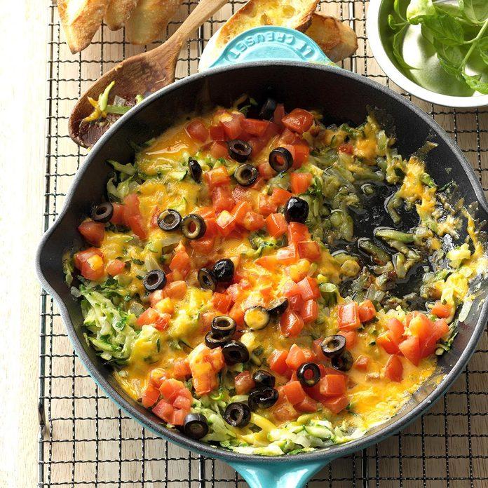 Delaware: Cheesy Zucchini Saute