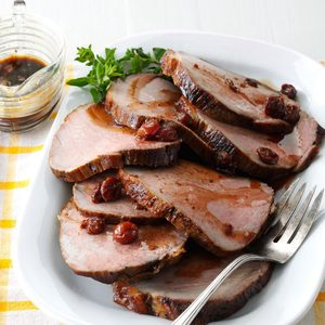 Cherry Balsamic Pork Loin