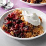Cherry-Blackberry Crisp