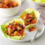 Cherry-Chicken Lettuce Wraps