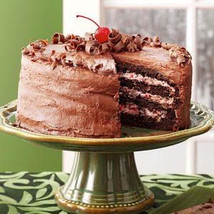 Cherry Chocolate Layer Cake